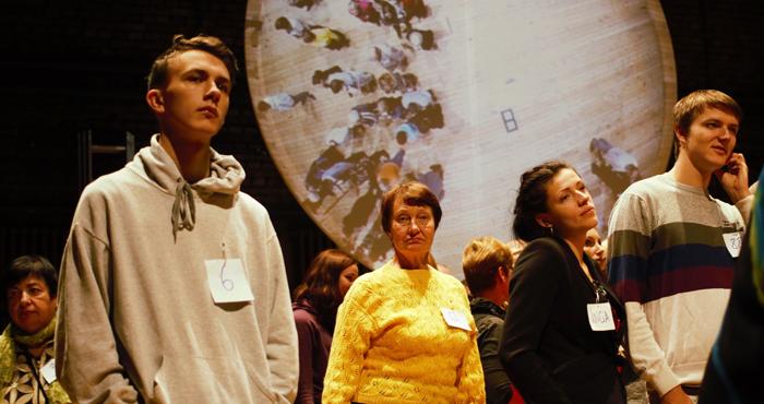 Contemporary theatre programme forte forte. Rimini Protokoll. 100% Rīga